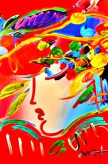 Blushing Beauty #106 2009 Heavily Embellished Poster 36x24 Limited Edition Print - Peter Max