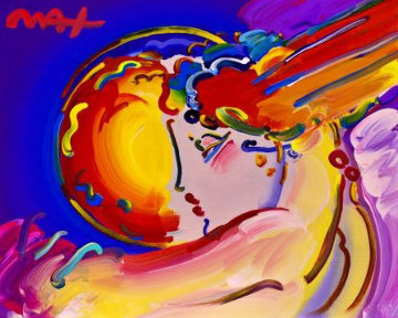 I Love the World Ver. II #40 Unique 2016 16x20 Works on Paper (not prints) - Peter Max