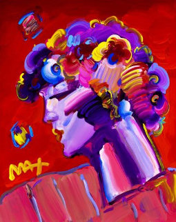 Crimson Lady Ver. II #7 Unique 2018 20x16 Works on Paper (not prints) by Peter Max