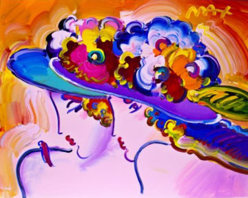 Friends Ver. II #4  Unique 2019 16x20 Works on Paper (not prints) - Peter Max