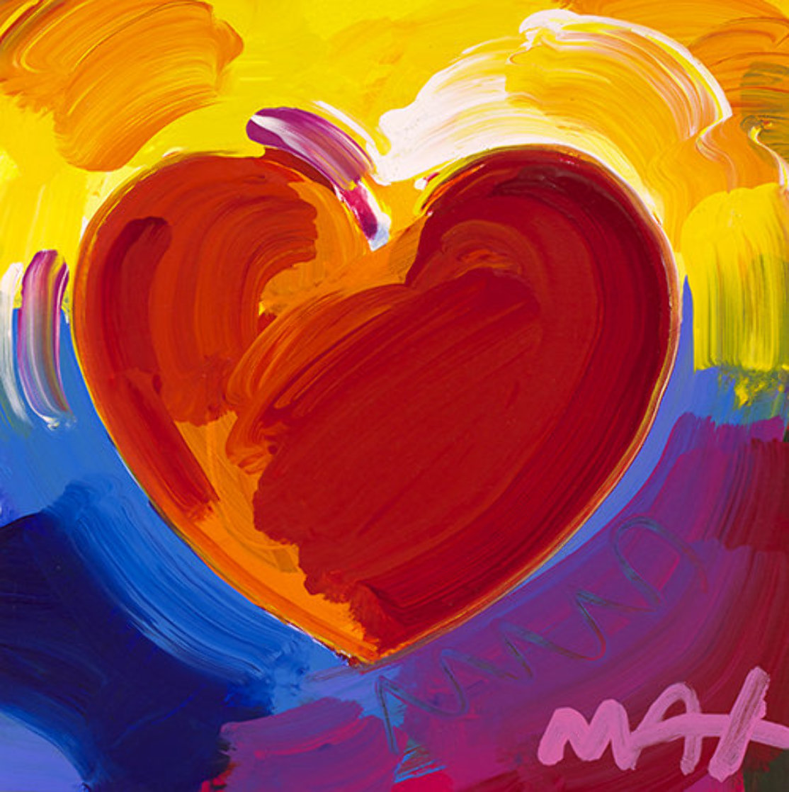 Heart Series II Ver. II #29  Unique 2019 11x11 Works on Paper (not prints) by Peter Max