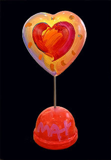 Heart Ver. II #16 Unique Acrylic Sculpture 2020 16 in Sculpture by Peter Max