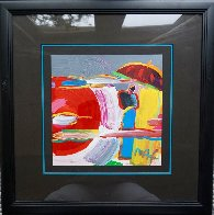 New Moon #53 1997 20x20 Works on Paper (not prints) by Peter Max - 1