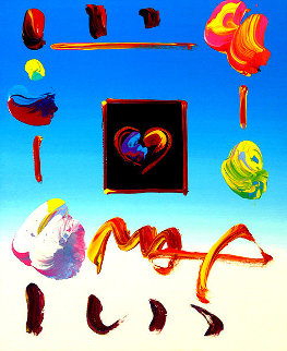 Heart Suite Iii: Heart IV Ver. I #152 1993 11x9 Works on Paper (not prints) by Peter Max