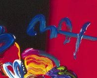 Nicolae Gallerie #128 Heavily Embellished Poster 1998 32x24 Works on Paper (not prints) by Peter Max - 2