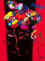 Nicolae Gallerie #128 Heavily Embellished Poster 1998 32x24 Works on Paper (not prints) by Peter Max - 0
