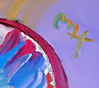 Palm Beach Lady 2007 Heavily Embellished Poster 36x24 Works on Paper (not prints) by Peter Max - 1