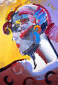 Palm Beach Lady 2007 Heavily Embellished Poster 36x24 Works on Paper (not prints) - Peter Max