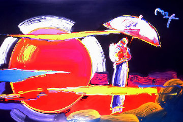 New Moon Heavily Embellished Poster 2007 24x36 Works on Paper (not prints) - Peter Max