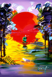 Better World Series Heavily Embellished Print 2007  #179  Works on Paper (not prints) by Peter Max