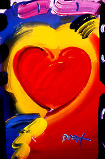 Valentine #79 2008 Heavily Embellished Poster 36x24 Works on Paper (not prints) by Peter Max