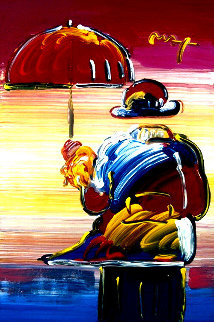 Neo Fauve Series: Umbrella Man #55 Heavily Embellished Poster 2008 36x24 Works on Paper (not prints) by Peter Max