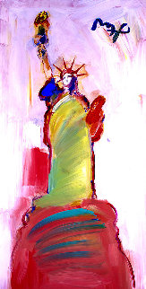 Statue of Liberty 2000 III #122 2010 Heavily Embellished Print 36x18 Works on Paper (not prints) - Peter Max