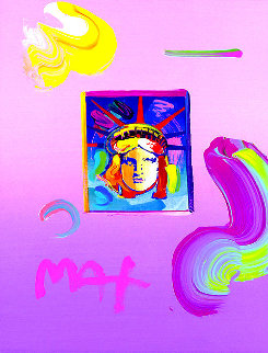 Liberty Head II Ver. I #256 2019 11x9 Works on Paper (not prints) by Peter Max