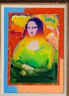Mona Lisa Unique 2017   35x29 Original Painting by Peter Max - 2
