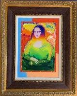Mona Lisa Unique 2017   35x29 Original Painting by Peter Max - 1