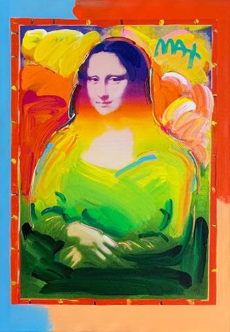 Mona Lisa Unique 2017   35x29 Original Painting by Peter Max