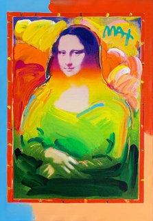 Mona Lisa Unique 2017   35x29 Original Painting - Peter Max