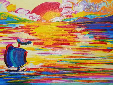 American 500: Sunset Limited Edition Print - Peter Max