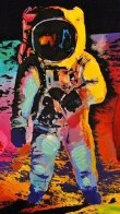 Walking on the Moon #33   Poster Heavily Embellished Works on Paper (not prints) by Peter Max - 1