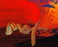 Walking on the Moon #33   Poster Heavily Embellished Works on Paper (not prints) by Peter Max - 2