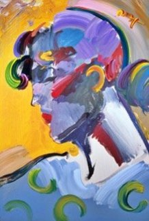 Palm Beach Lady 2007 #114  Uniqu  Poster Heavily Embellished Works on Paper (not prints) - Peter Max