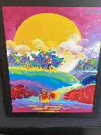 Without Borders #4 2004 48x42 Super Huge Original Painting by Peter Max - 2