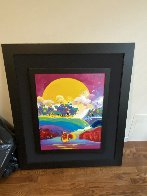 Without Borders #4 2004 48x42 Super Huge Original Painting by Peter Max - 1