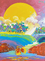 Without Borders #4 2004 48x42 Super Huge Original Painting by Peter Max - 0
