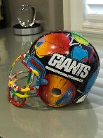 New York Giants Painted Mini Helmet  Sculpture by Peter Max - 2