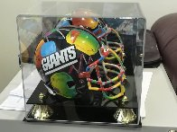 New York Giants Painted Mini Helmet  Sculpture by Peter Max - 0