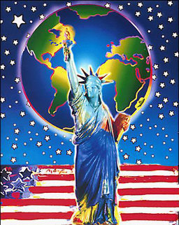Peace on Earth Unique 2001 20x18 Works on Paper (not prints) - Peter Max