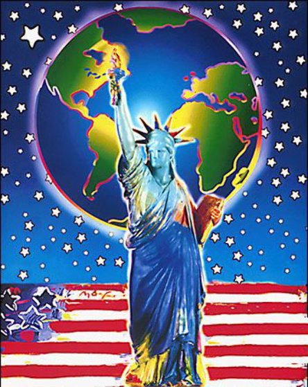 Peace on Earth Unique 2001  Works on Paper (not prints) by Peter Max