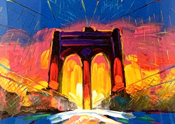 Brooklyn Bridge 2017 Limited Edition Print - Peter Max