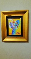 Angel With Heart Ver. XII #238 2014 22x19 Original Painting by Peter Max - 1