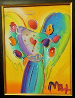 Angel With Heart Ver. XII #238 2014 22x19 Original Painting by Peter Max - 2