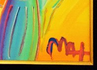 Angel With Heart Ver. XII #238 2014 22x19 Original Painting by Peter Max - 3