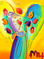 Angel With Heart Ver. XII #238 2014 22x19 Original Painting by Peter Max - 0