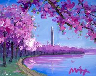 Cherry Blossom II Ver. II #15 2018 16x20 Works on Paper (not prints) by Peter Max - 1