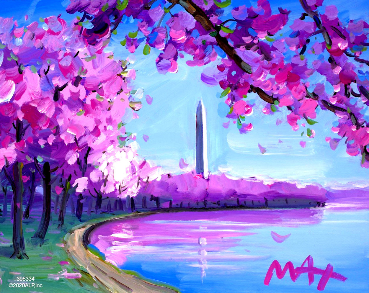 Cherry Blossom II Ver. II #15 2018 16x20 Works on Paper (not prints) by Peter Max