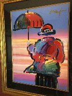 Umbrella Man Unique 1999 44x36 Works on Paper (not prints) by Peter Max - 5