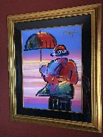 Umbrella Man Unique 1999 44x36 Works on Paper (not prints) by Peter Max - 1