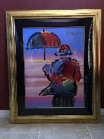 Umbrella Man Unique 1999 44x36 Works on Paper (not prints) by Peter Max - 3