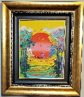 Better World  2012 24x21 Original Painting by Peter Max - 1