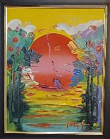 Better World  2012 24x21 Original Painting by Peter Max - 2