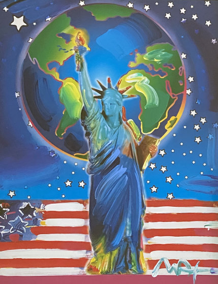 Peace on Earth Unique 2001  23x17 Works on Paper (not prints) by Peter Max
