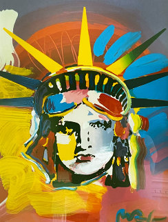 Liberty Head Unique 2001 38x32 Works on Paper (not prints) - Peter Max