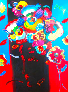 Roseville Profile 1991 42x34 Works on Paper (not prints) - Peter Max