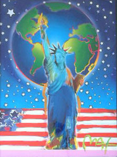 Peace on Earth Unique 2001 40x34 Works on Paper (not prints) by Peter Max
