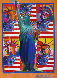 God Bless America with Five Liberties Unique Works on Paper (not prints) by Peter Max - 0